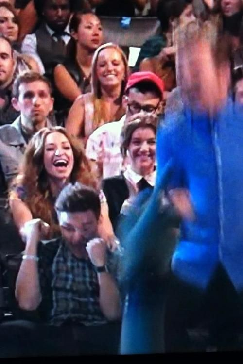 OMG THATS SOO CUTE! The first thing Liam does is he grabs Danielle's hand!
