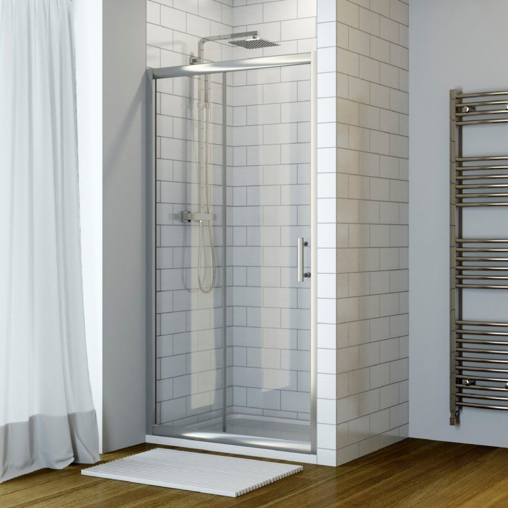 Luxura 1100mm Sliding Shower Door 6mm Glass Sliding Shower Door Shower Doors Bathroom Solutions