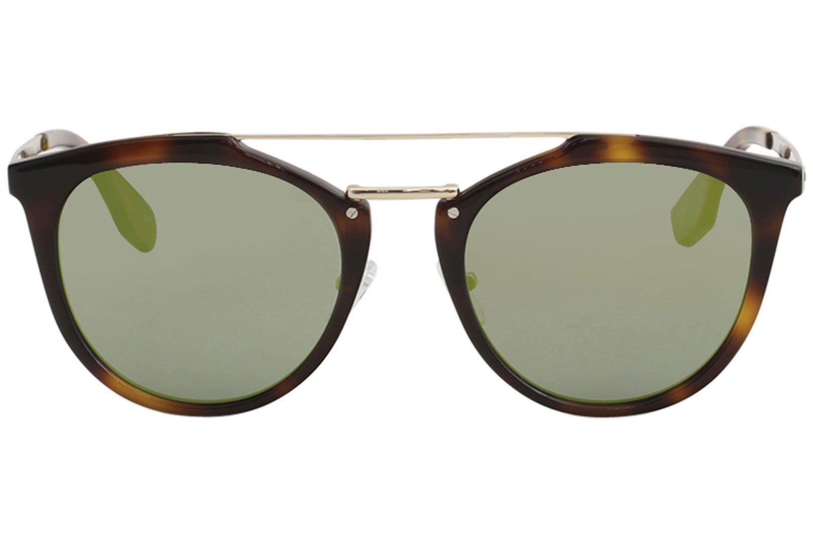6751fe2a34 McQ Alexander McQueen Womens Oxford Mirrored Sunglasses Havana Green One  Size     Go to the image link even more details. (This is an affiliate  link).
