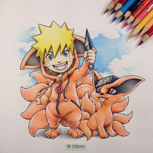 Naruto Wearing A Kyuubi Kigurumi 7 Hours Later Prints Will Be