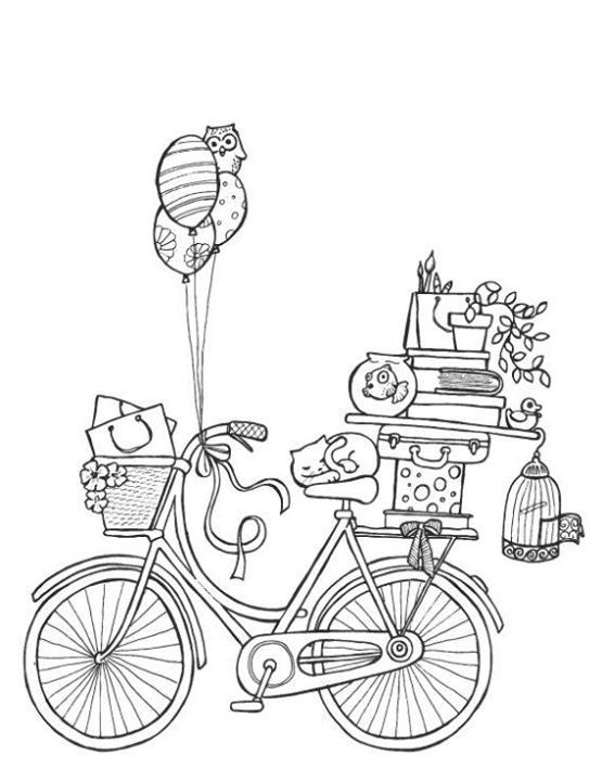 Bike Coloring Page Coloring Books Coloring Pages Adult Coloring