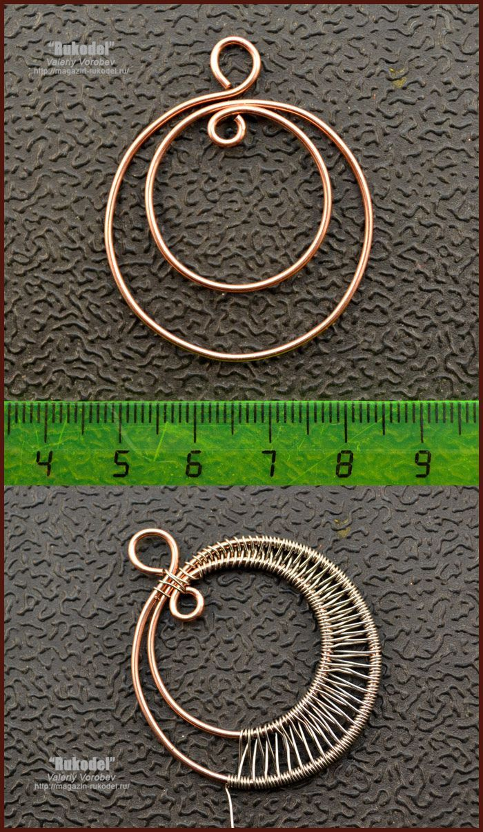 Photo of Handmade jewelry. Wire wrap tutorial. Pendant.