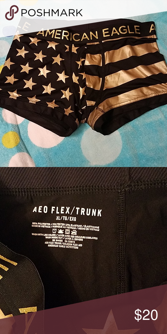 06d9fcedeee6 A.E black and gold Black and gold trunk XL Nwot American Eagle Outfitters  Underwear & Socks Boxer Briefs