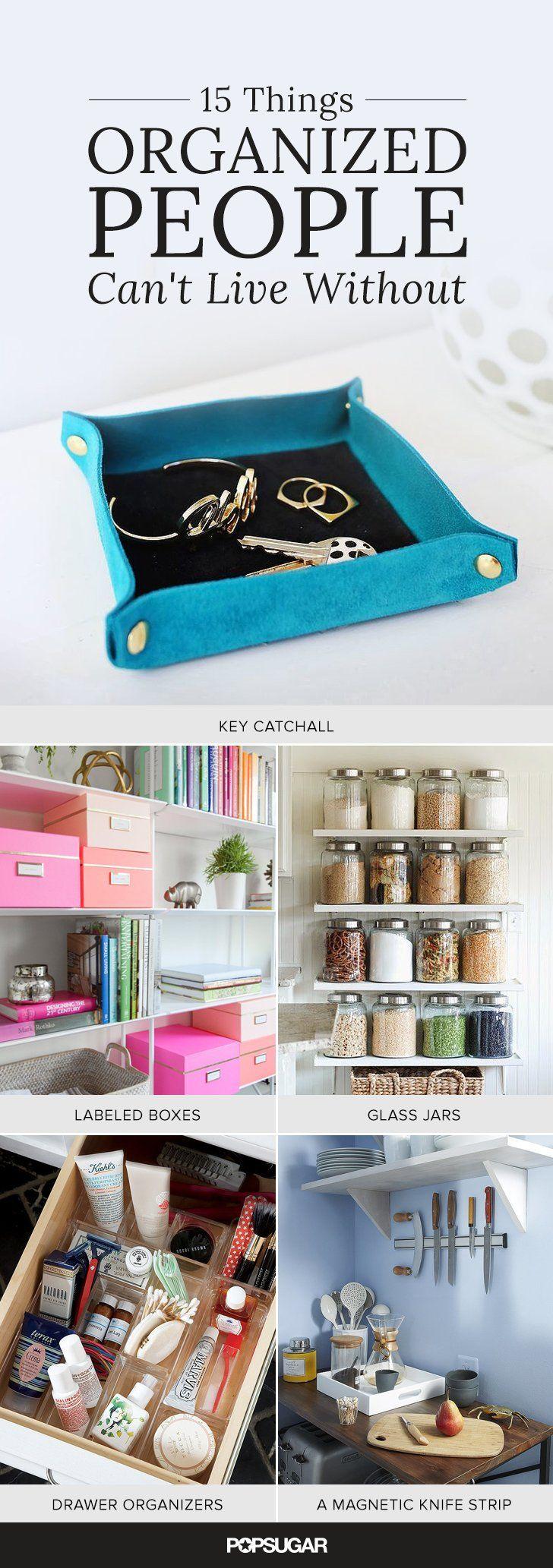 15 things organized people have in their homes | wohnideen und möbel - Buro Mobel Praktisch Organisieren Platz Sparen
