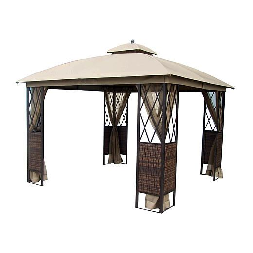 Essential Garden Ridgeway 10 x 10 Wicker Gazebo Stuff to Buy