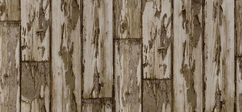 Papel pintado con tablones pelados color marr n telas - Papel pintado vigo ...