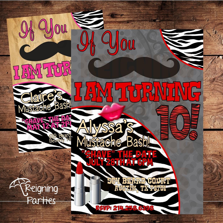Mustache Birthday Party - Stache Bash Invitation Digital File ...