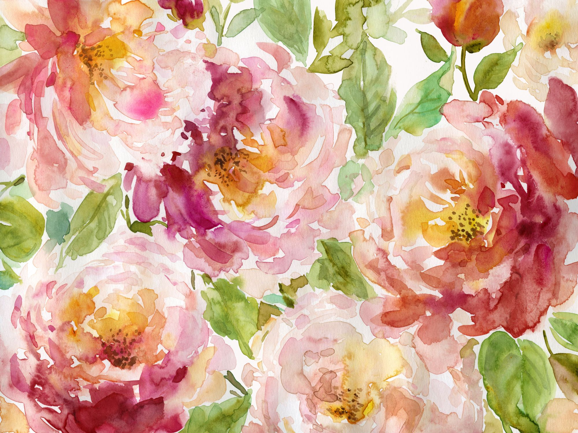 Bold and Beautiful Floral in 2020 Wall wallpaper