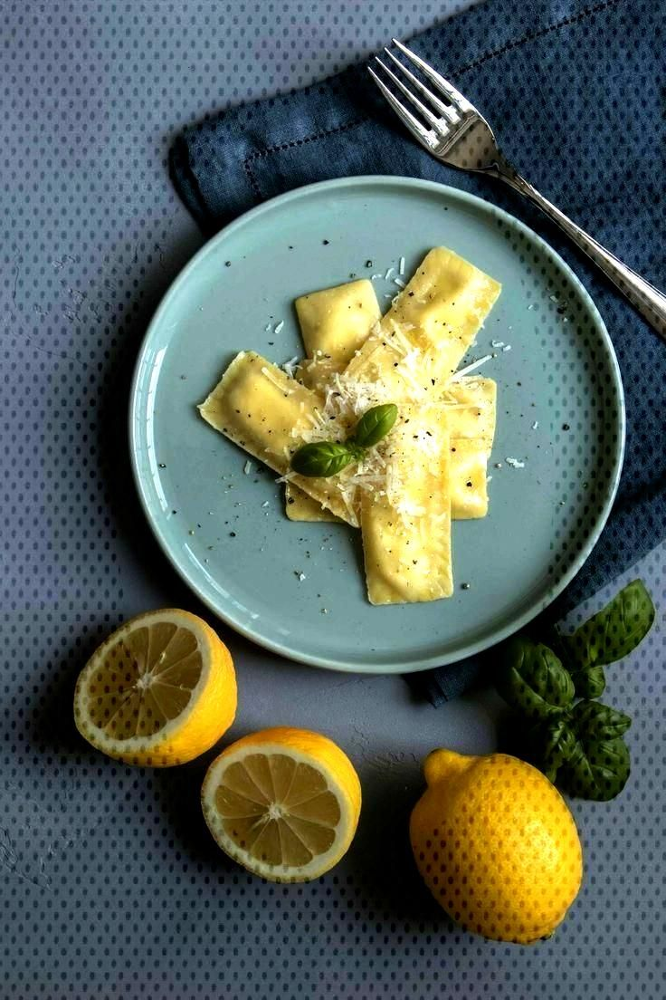 Cookinesi - ravioli with lemon-ricotta filling on lemon butter - Rezeptideen -