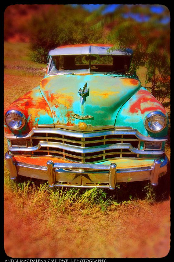 Classic Chrysler Automobile, New Mexico - Memorabilia Wall Art | my ...