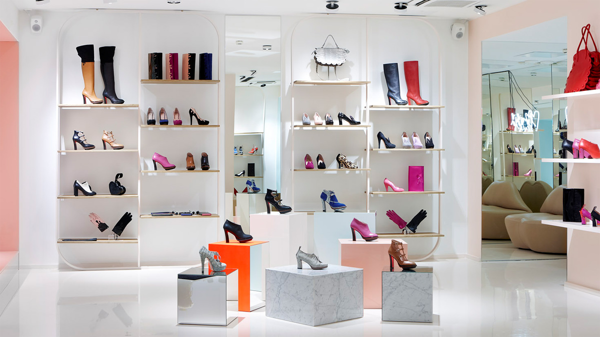 modern shoes store interior idea elegant cheerful wanted