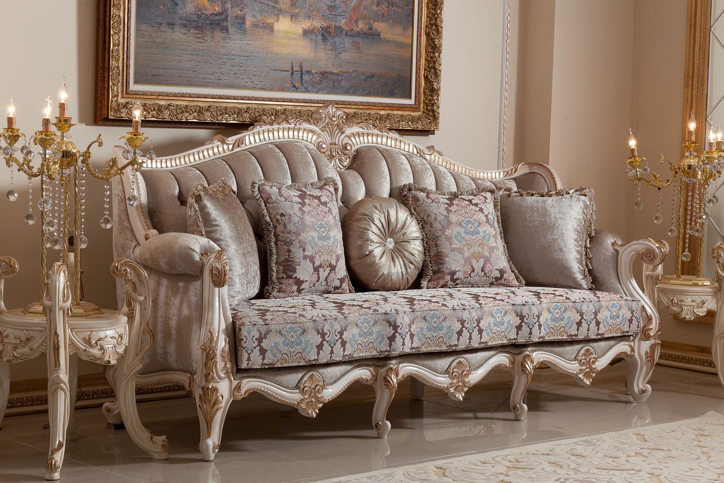 Merveilleux INCI SOFA SET Handmade Turkish Furniture. You Can Give Order This Sofa Set  (3+3+1+1+ Coffee Table). Total Price Is 7800 Dollar. We Can Shipping  Worldwide.