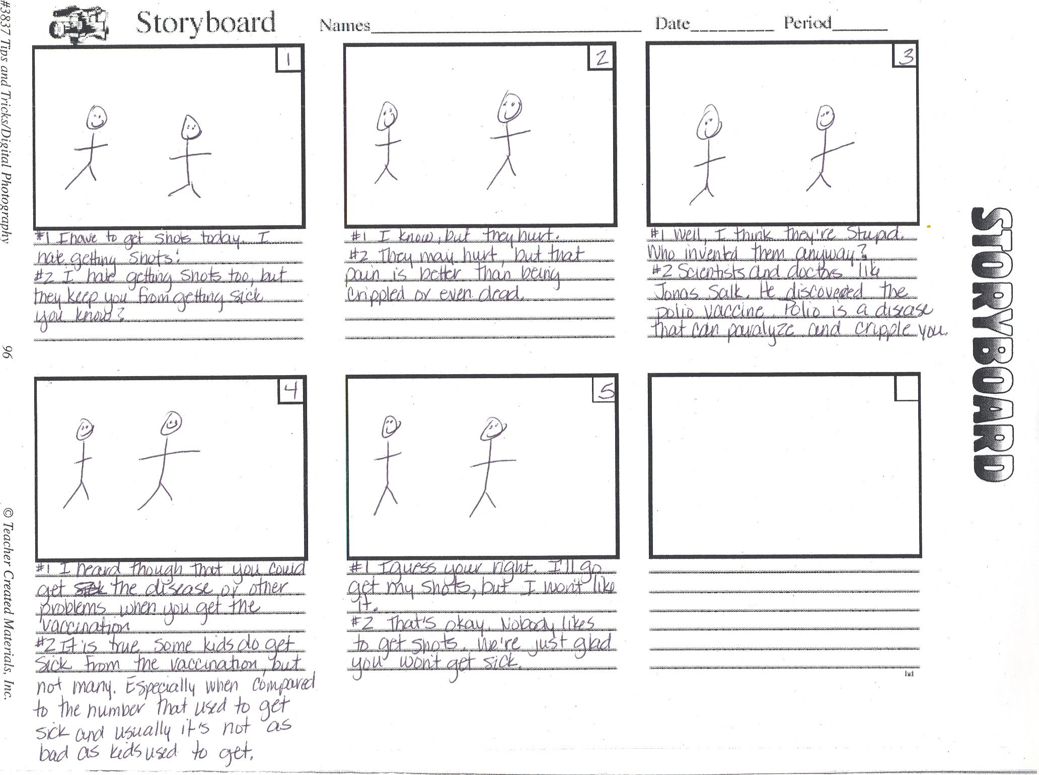 storyboard examples for kids not found
