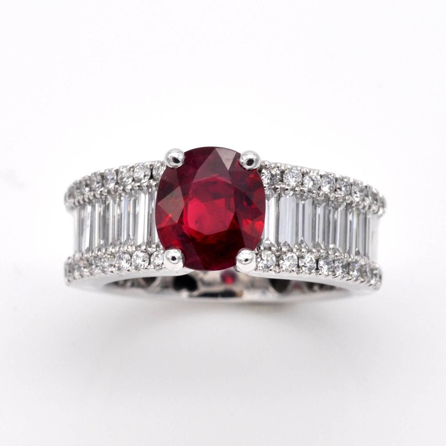 carat ruby diamond gold engagement ring gold engagement rings