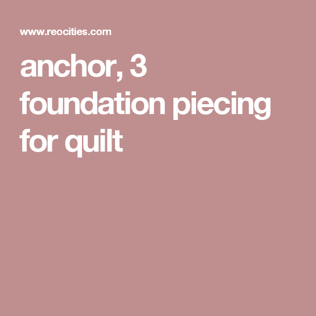 anchor, 3 foundation piecing for quilt