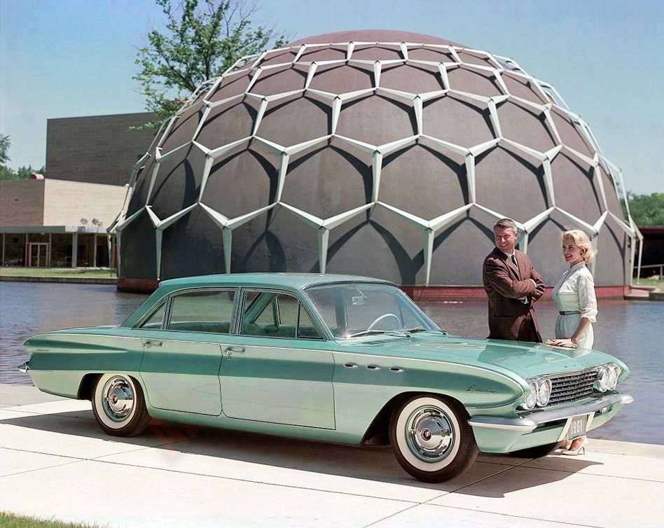 1961 Buick Special outside the Longway Planetarium in Flint ...