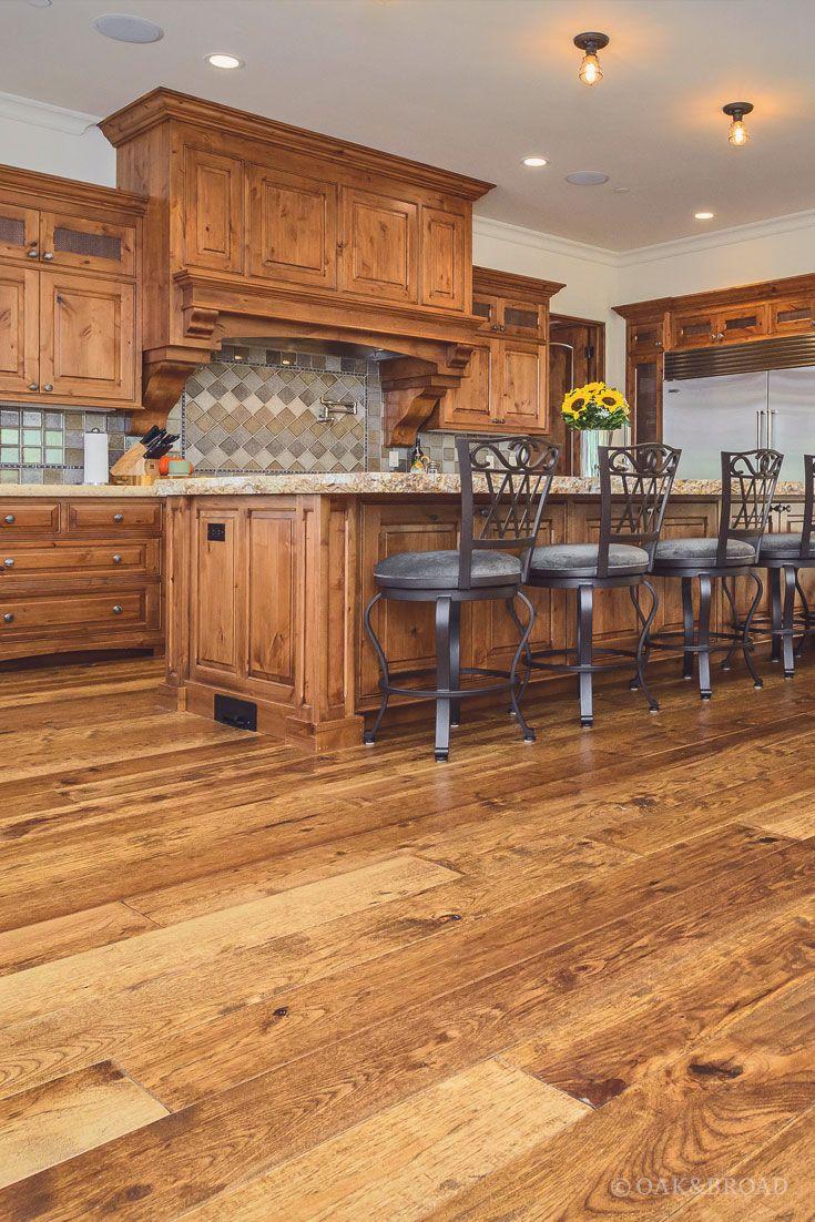 Custom HandScraped Hickory Floor in Cupertino Oak