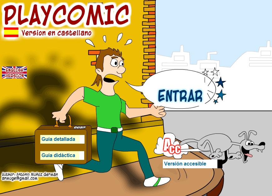 PLAYCOMIC - Herramienta para desarrollar la expresión escrita de nuestros alumnos tanto en castellano como en inglés. Actividades para crear y editar cómics.