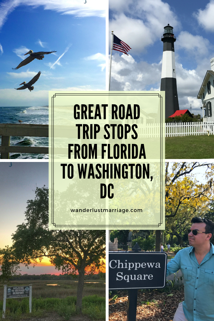 Great Road Trip Stops From Florida To Washington Dc Road Trip