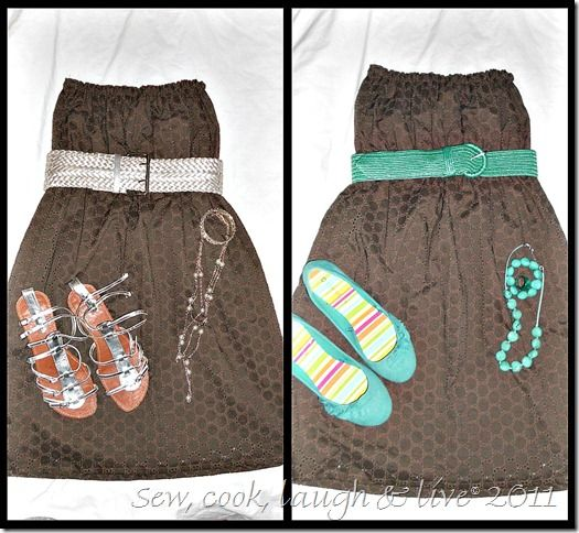 No pattern required dress! Easy & super simple to make! Flatters anyvody shape. Can add straps too!