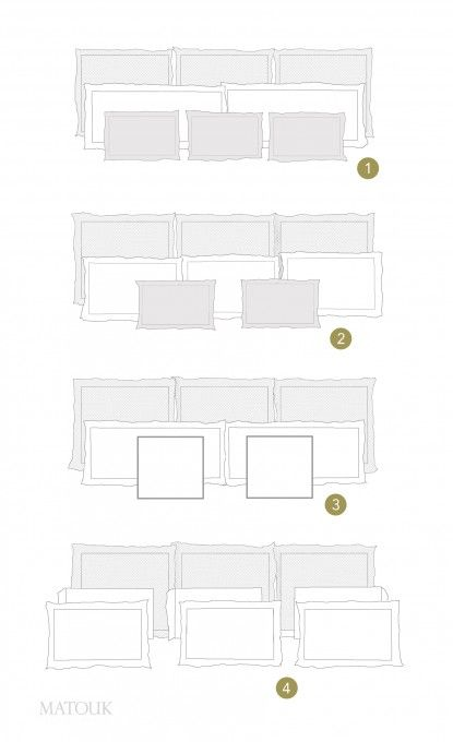 Styling Your Bed Is Easy With Our Pillow Formations Chart