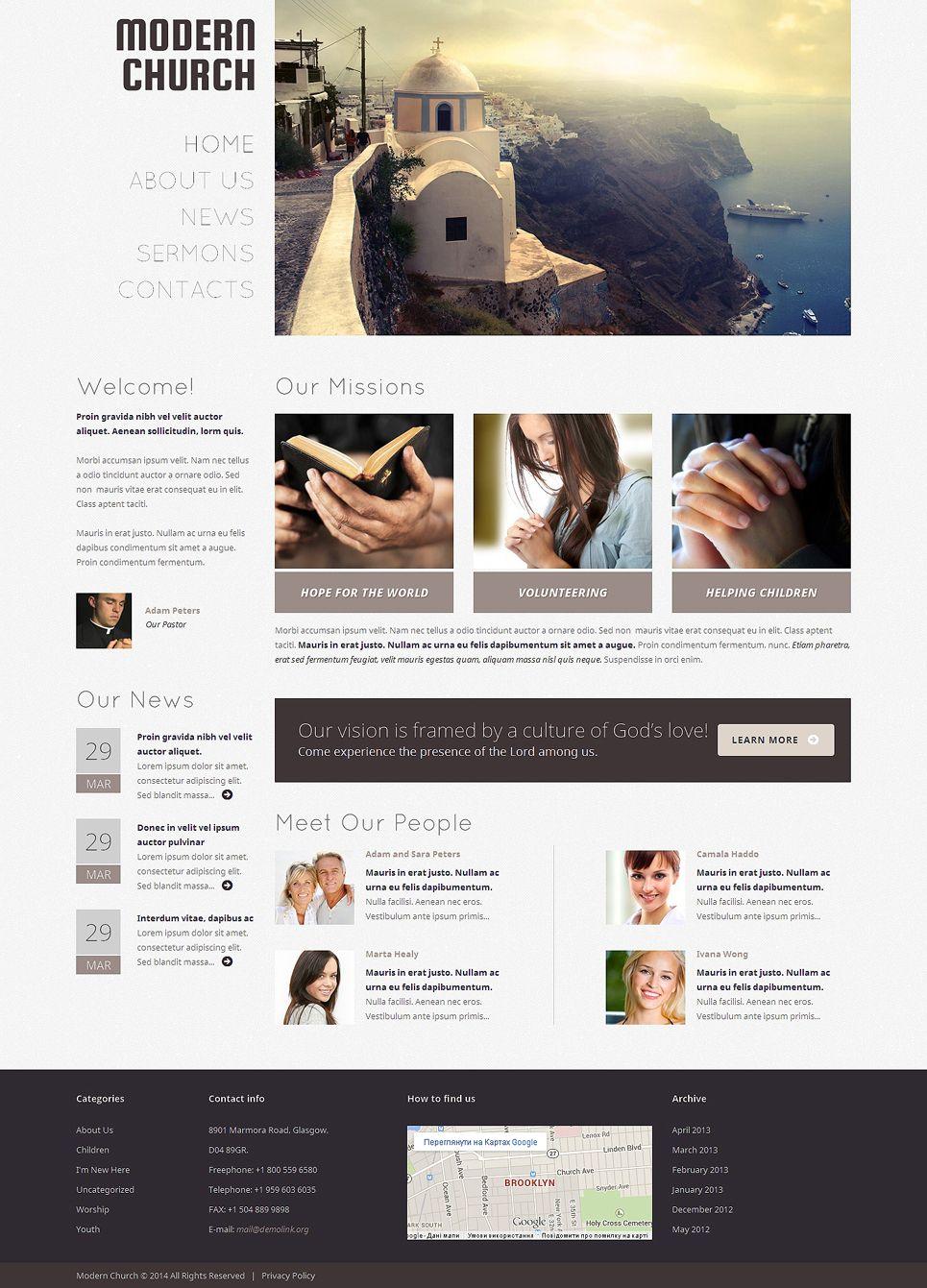 Christian Responsive Wordpress Theme 48926 Wordpress Theme Responsive Wordpress Theme Design Wordpress Design