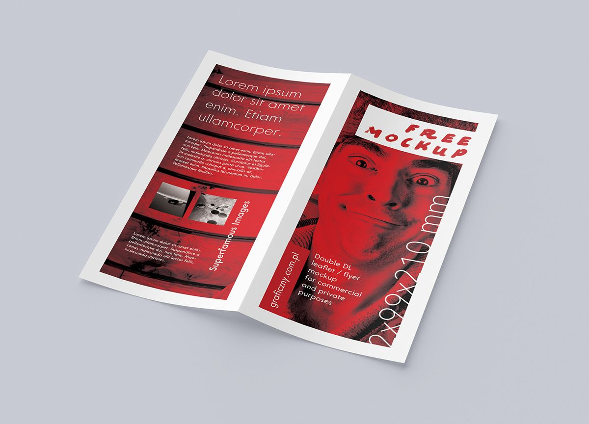 Bi-Fold DL Leaflet Mockup | design | Pinterest | Mockup, Brochures ...