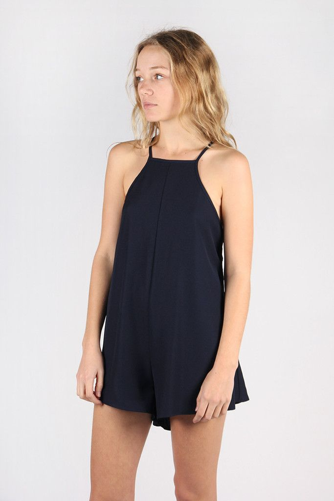 The Fifth, Don't Panic Playsuit - deep navy