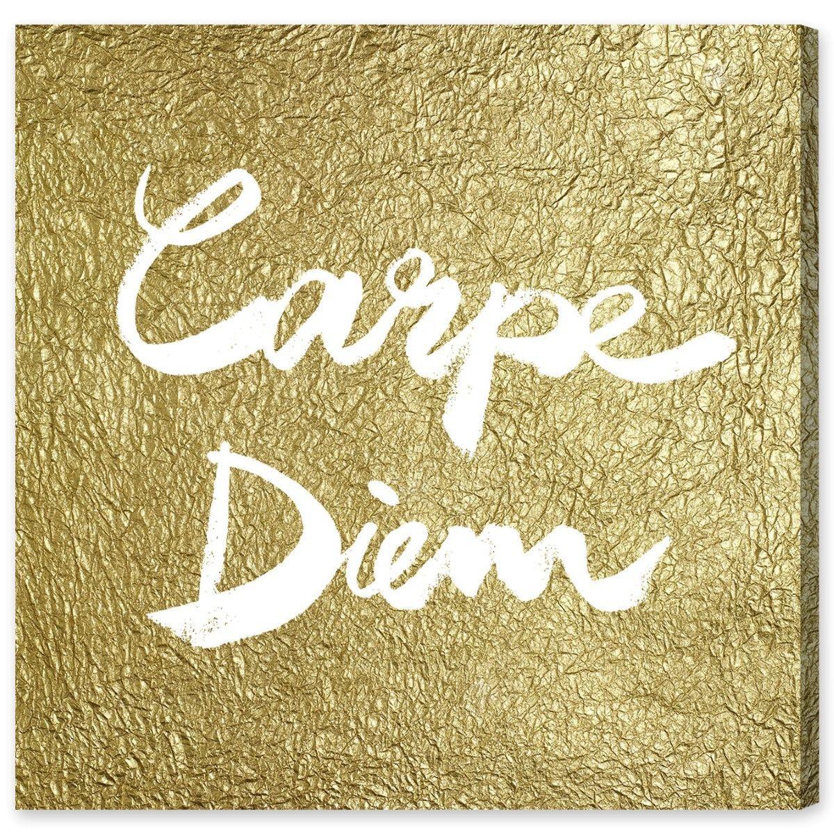 Carpe Diem Gold Textual Art Plaque | Products | Pinterest | Carpe ...