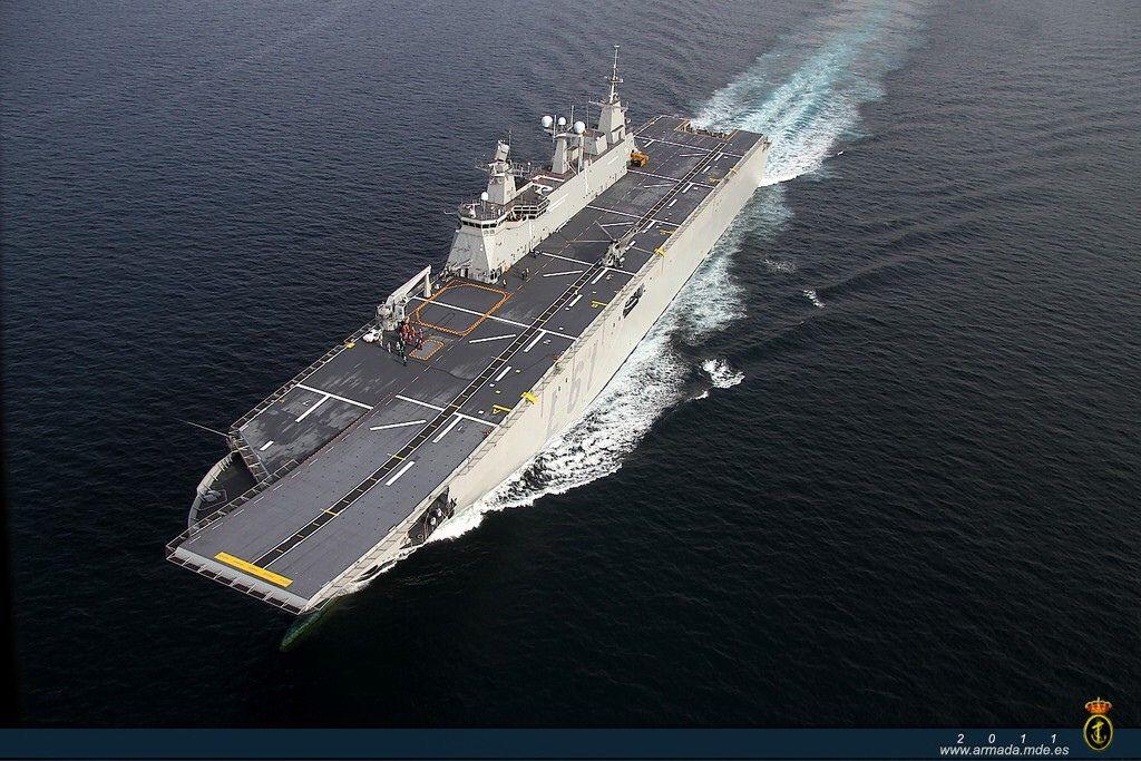 Spanish Juan Carlos   Aircraft carrier, Navy ships, Royal ... Spanish Aircraft Carrier News