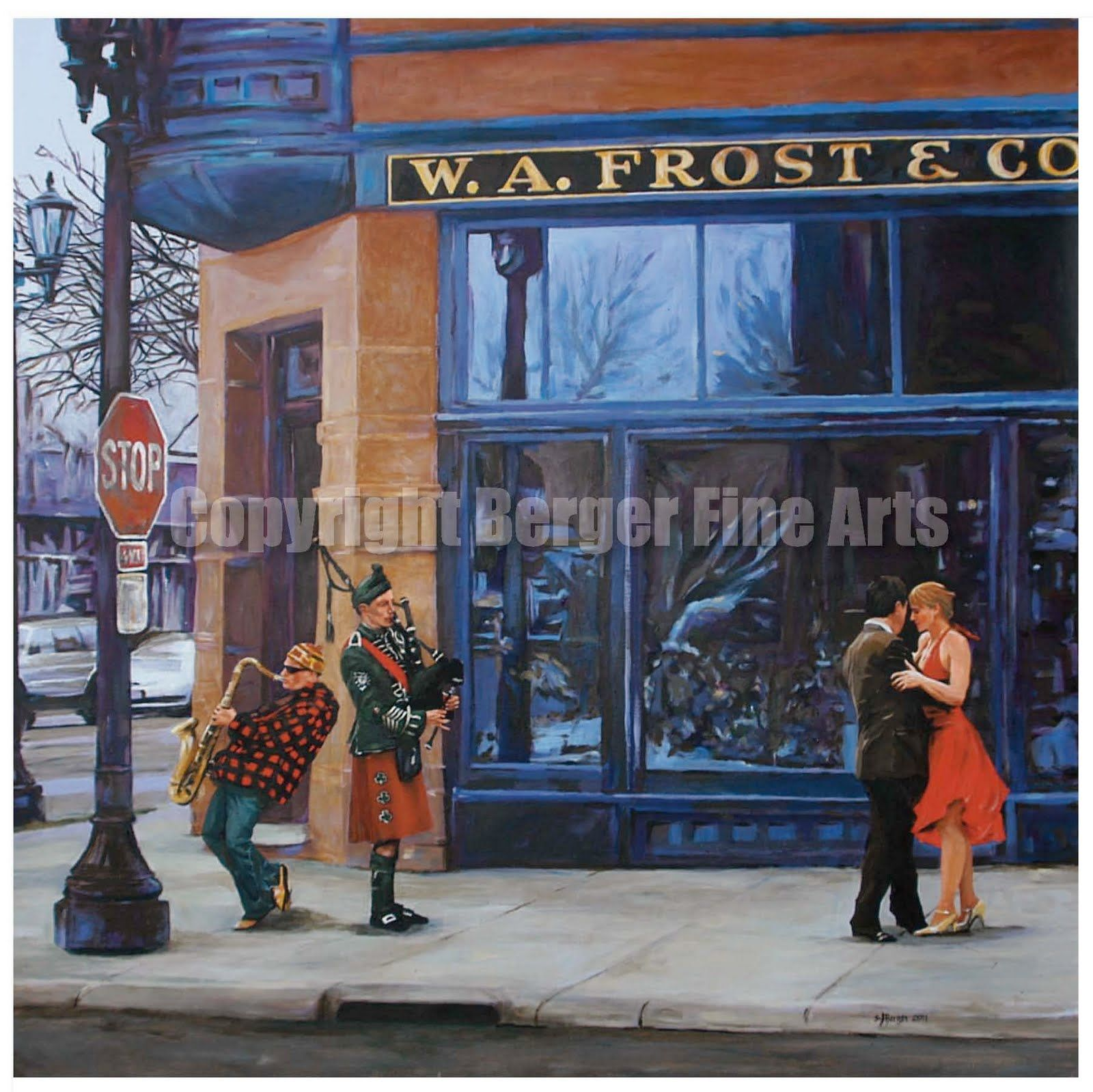 Berger fine arts news w a frost restaurant painting in for Tattoo grand rapids mn