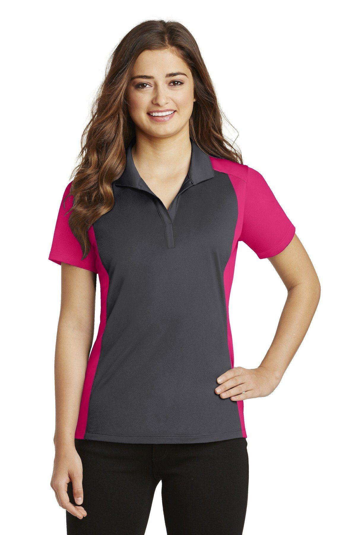 SportTek® Ladies Colorblock Micropique SportWick® Polo