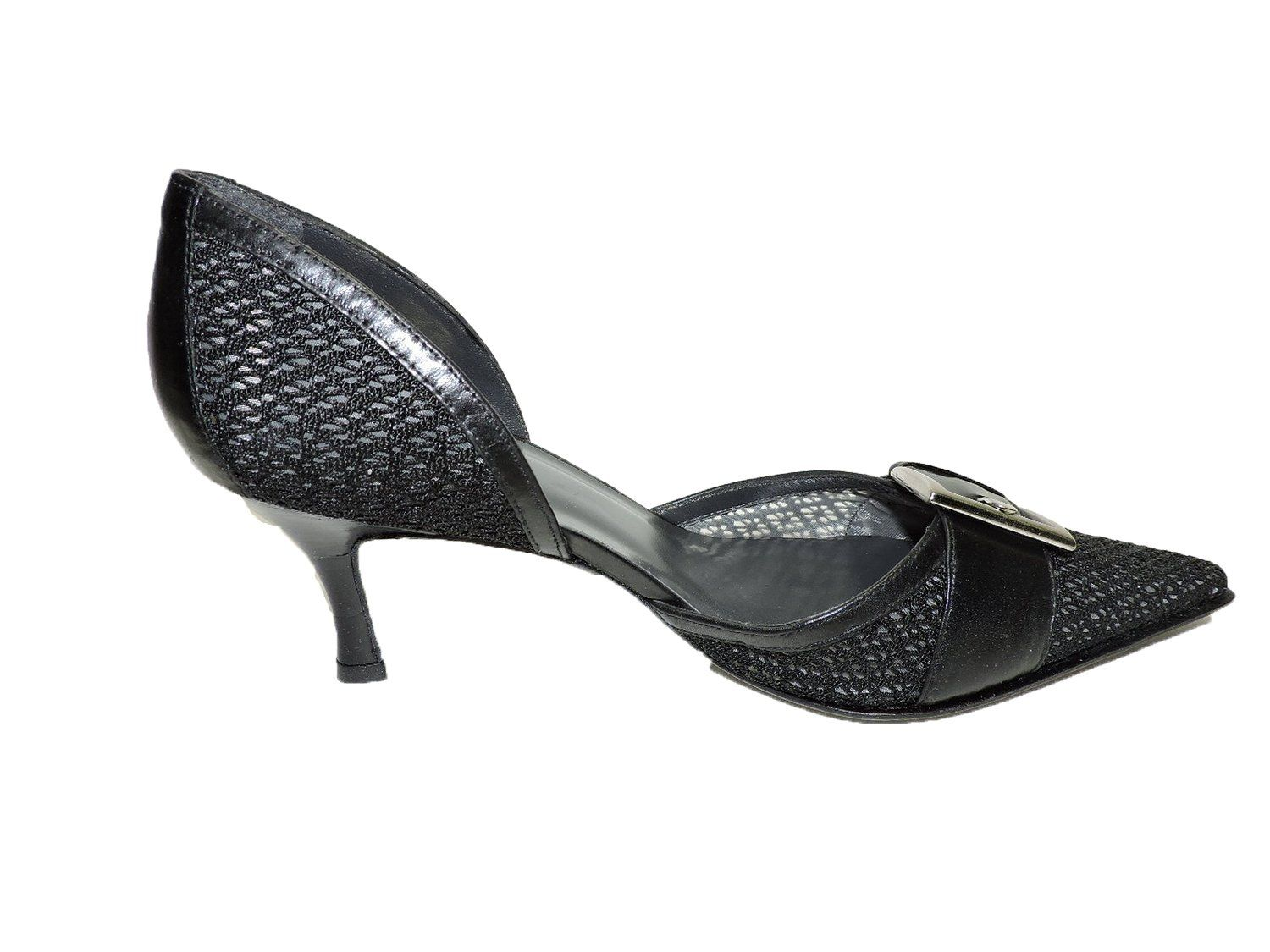 Black mesh sandals
