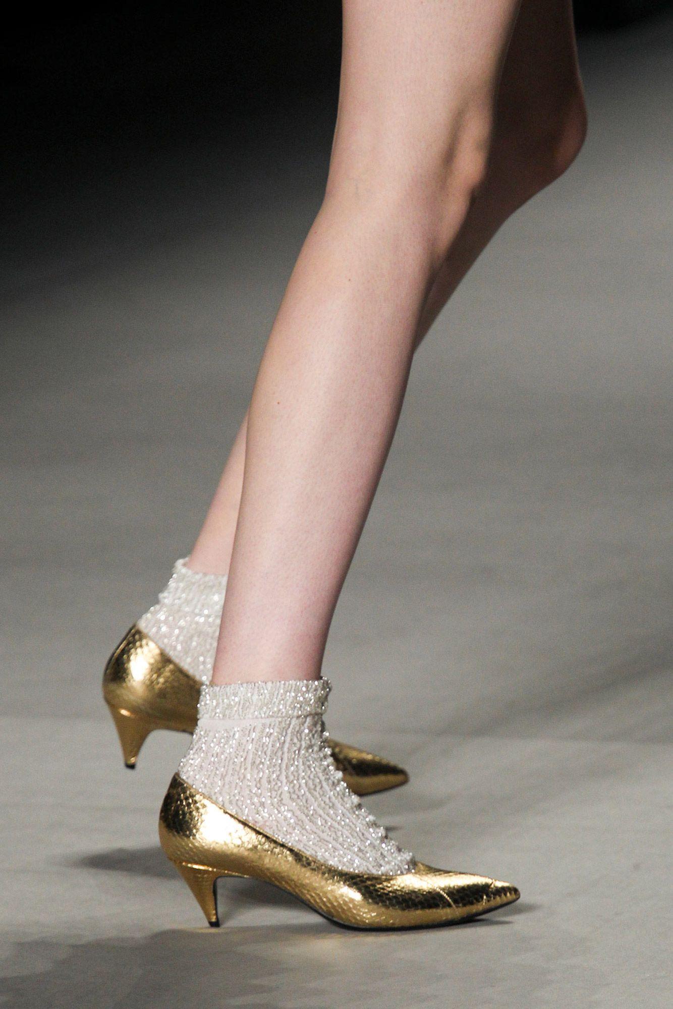 Hedi S Heels Socks And Heels Heels Gold Kitten Heels
