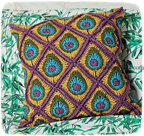 подушка ,крючком, узор, | Things I Like To Make | Pinterest