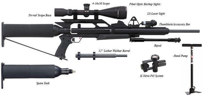 Airforce Texan Air Rifle High Power .45 .457 Lothar Walther barrel ... cb8a9e6b5
