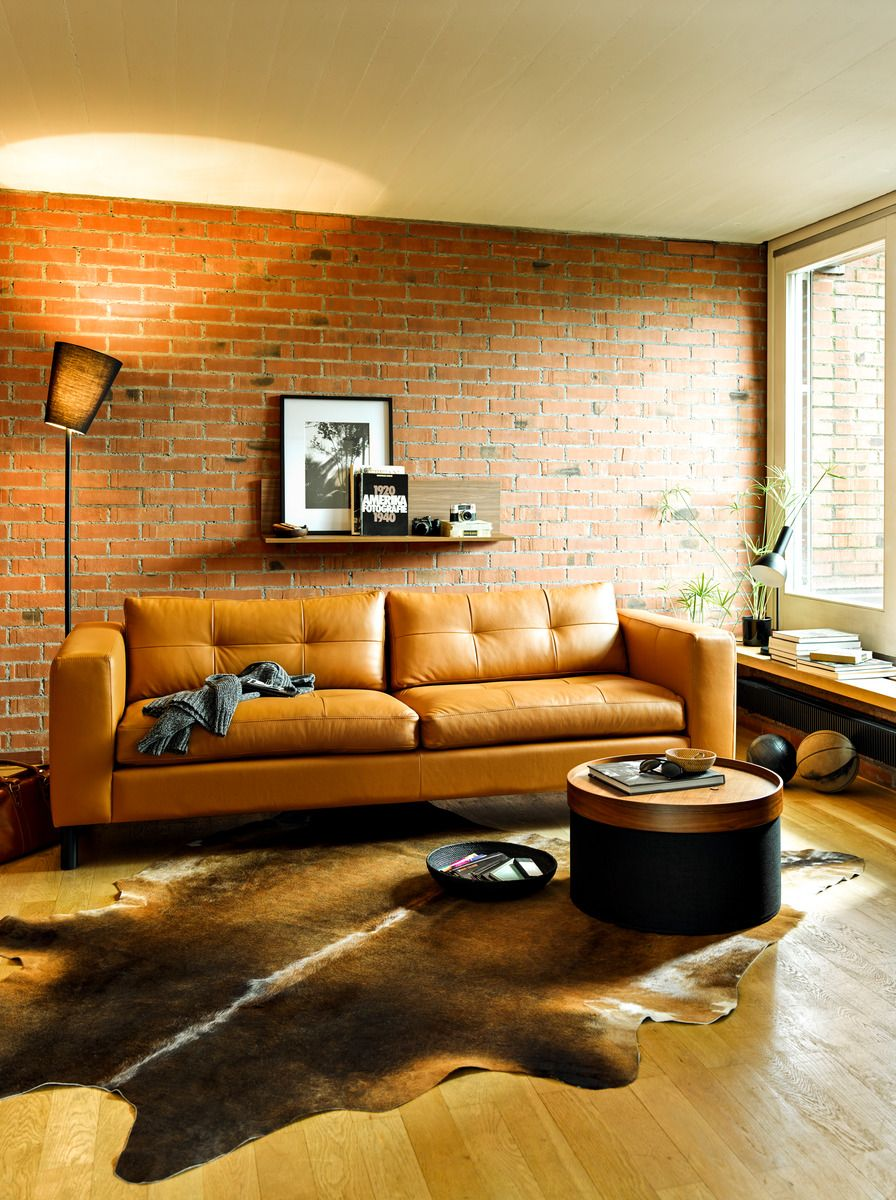 Micasa Wohnzimmer Mit 2 5er Sofa Diener Cognac Individuell