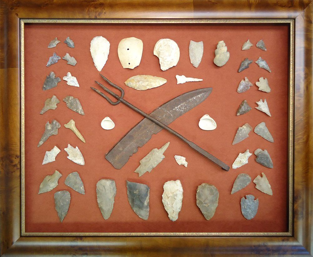 DTW Art and Framing - Austin, TX, United States. Arrowheads, fossils ...