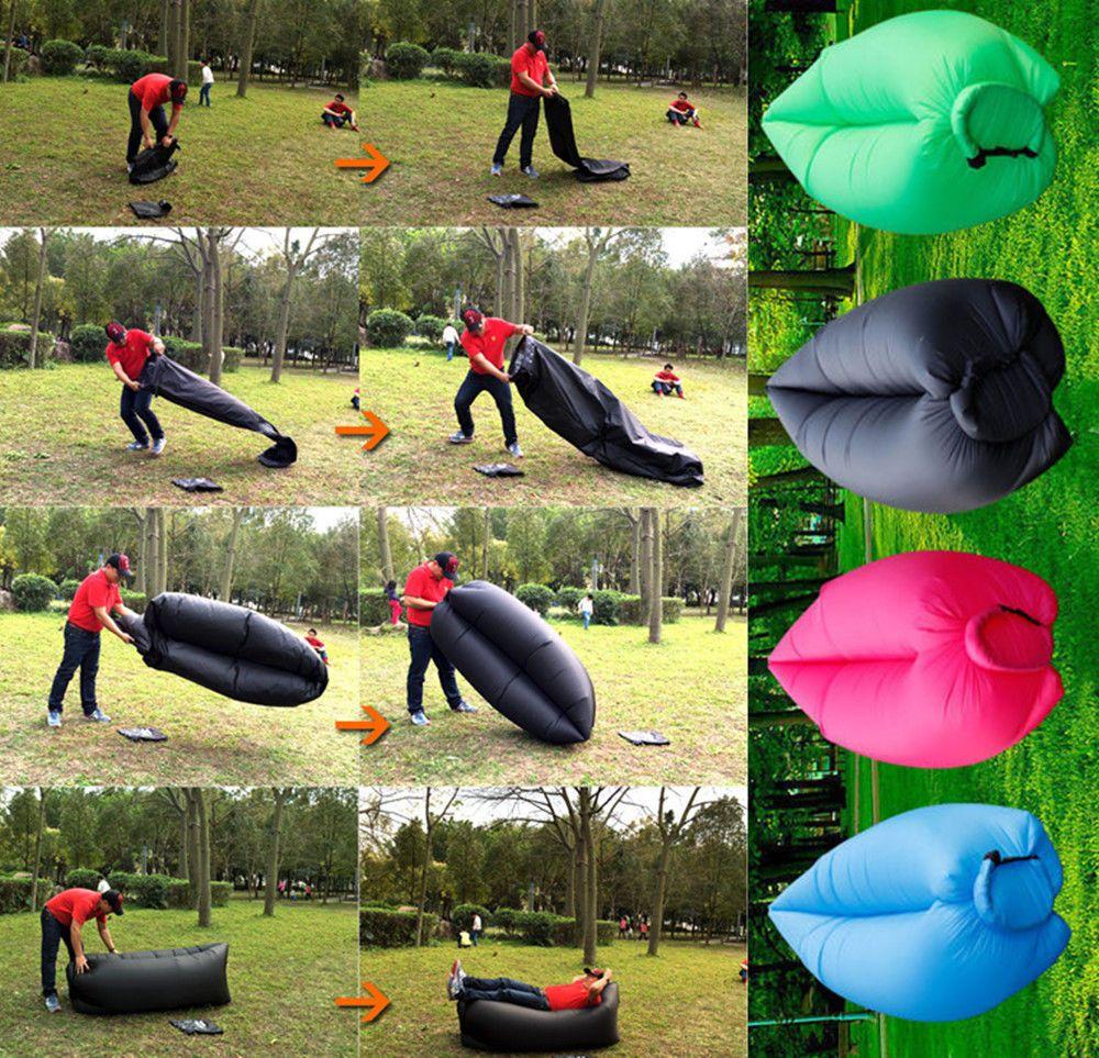 Hot Fast Inflatable Bean Flatfish Sleeping Bed Sofa Air