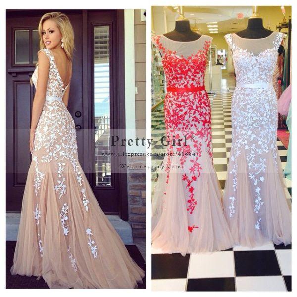 Aliexpress.com : Buy 2015 Abendkleider Long Prom Dresses Sheer ...