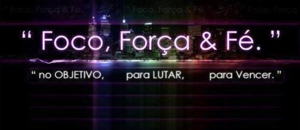 """Boa Tarde Feliz Sabádo!! """"Foco, Força & Fé"""" """"no OBJECTIVO, para LUTAR, para Vencer."""" :)"""