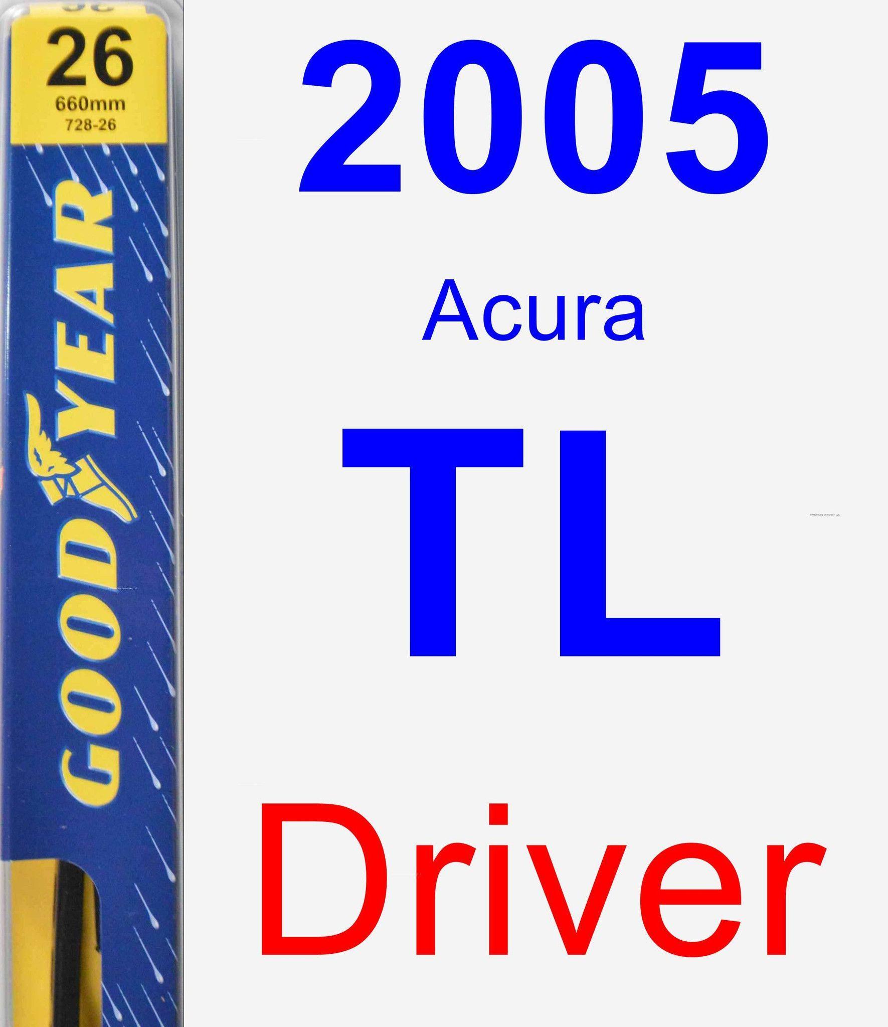 Driver Wiper Blade For 2005 Acura TL - Premium