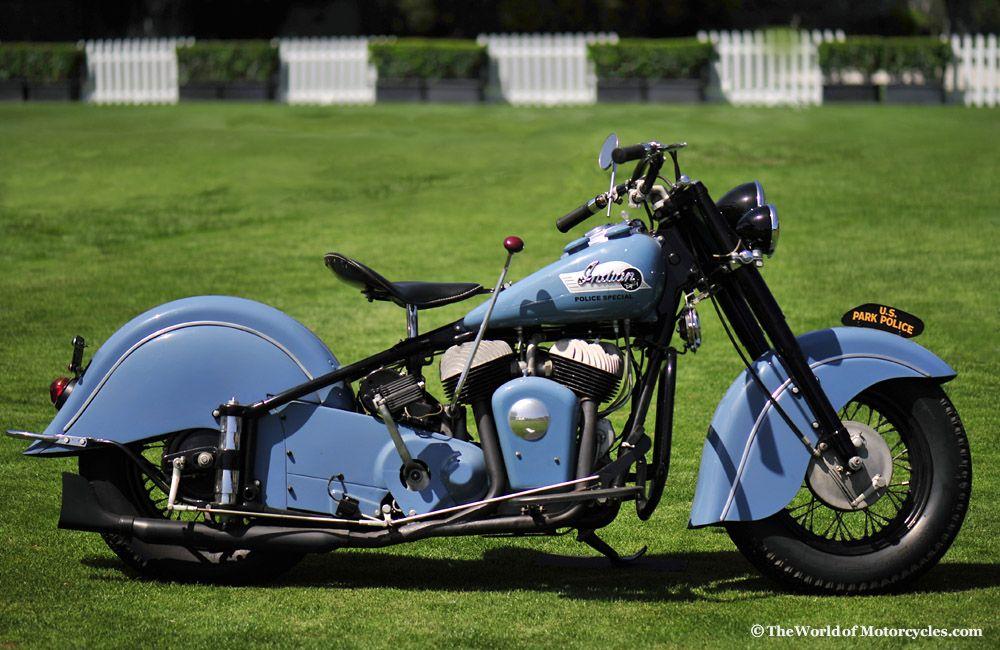 1953 Indian Chief Roadmaster Police Special Vintage Indian Motorcycles Indian Motorcycle Classic Bikes