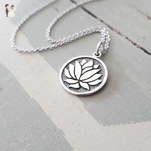 Sterling Silver Lotus Flower Charm Necklace Wedding Nacklaces