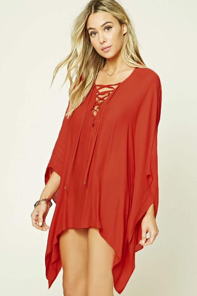 3367c4fd8c Lace-Up Cover-Up Kaftan - Women - Swim - 2000231845 - Forever 21 Canada  English