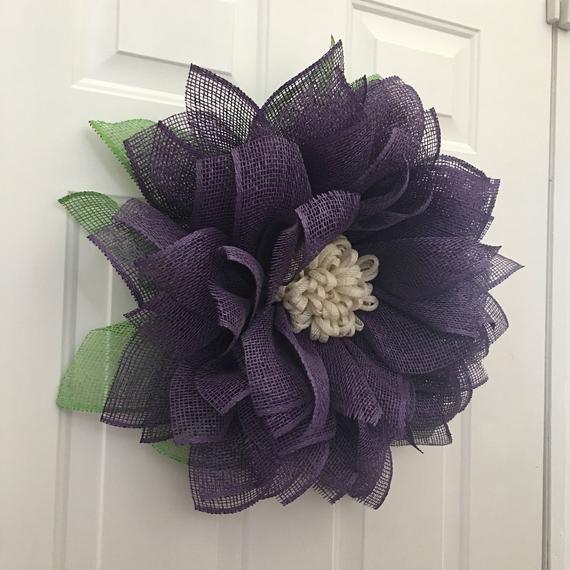 Photo of Burlap Wreath, Summer Front Door Wreath, Flower Burlap Wreath, Sunflower Wreath, Summer Wreat…