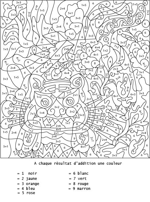 coloring by number online page - multiplication | rekenen ...