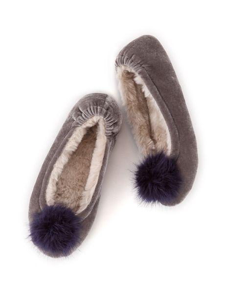 6de3f468d9 Velvet slipper. Velvet slipper Bedroom Slippers, Shoe Size Chart ...