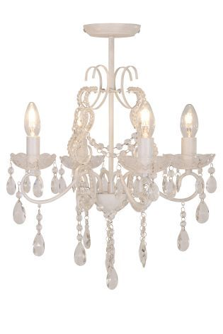 Next Chandelier White Distressed 125