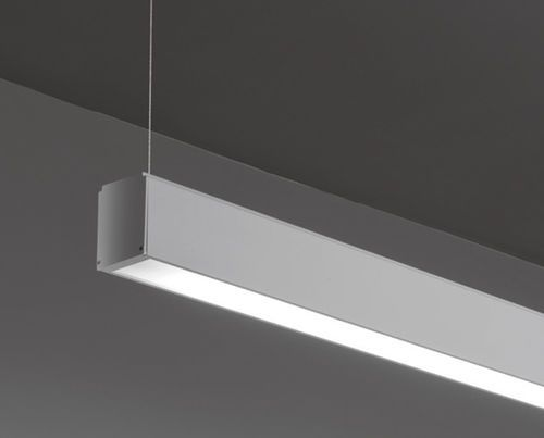Linear suspended led luminaire light runner led s tre ci for Suspente luminaire
